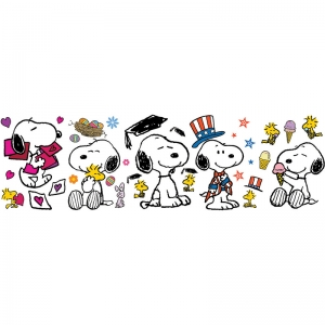 "Spring/Summer ""Snoopy Pose"" Bulletin Board Set"