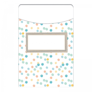 CONFETTI SPLASH LIBRARY POCKETS