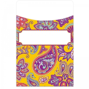 Positively Paisley Library Pockets, Pack of 35