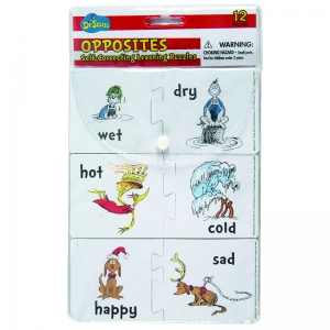 Dr. Seuss Opposites Self-Correcting Puzzle Manipulatives