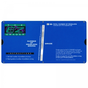 LARGE PRINT E-Z GRADER ROYAL BLUE