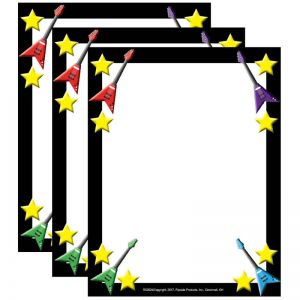 Rock Star Border Paper, 50 Sheets Per Pack, 3 Packs