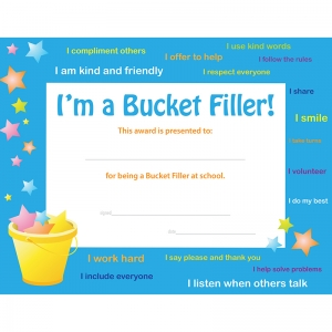 Bucket Filler Award- Pack of 30