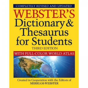 DICTIONARY & THESAURUS W/ ATLAS WEBSTERS 3RD EDITION