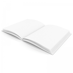 PLAIN WHITE BLANK BOOK 6W X 8H  HARDCOVER 28 PAGES 14 SHEETS