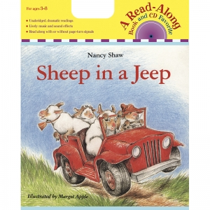 CARRY ALONG BOOK & CD SHEEP IN A  JEEP
