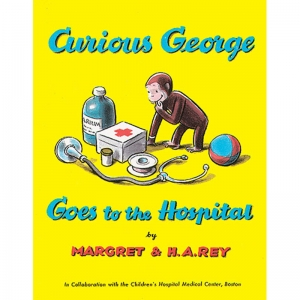 CURIOUS GEORGE GOES TO THE HOSPITAL  PAPERBACK BOOK
