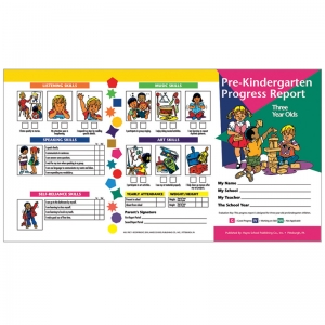 PRE KINDERGARTEN PROGRESS REPORT 10  PK FOR 3 YEAR OLDS