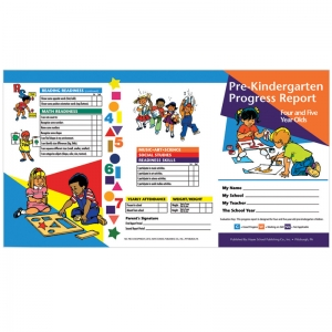 PRE KINDERGARTEN PROGRESS REPORT 10  PK FOR 4 & 5 YEAR OLDS