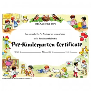 "Pre-Kindergarten Certificate, 8.5"" x 11"", Pack of 30"
