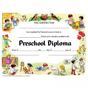 "Preschool Diploma, 8.5"" x 11"", Pack of 30"