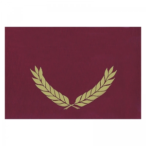 "Gold Foil Stamped Maroon Certificate Folders, 10"" x 13"", Pack of 30"