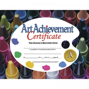 CERTIFICATES ART ACHIEVEMENT 30/PK  8.5 X 11