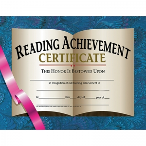 CERTIFICATES READING ACHIEVEMENT 30  PK 8.5 X 11