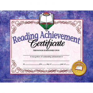 READING ACHIEVEMENT 30PK 8.5 X 11  CERTIFICATES INKJET LASER