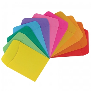 BRIGHT LIBRARY POCKETS 300CT ASST  COLORS