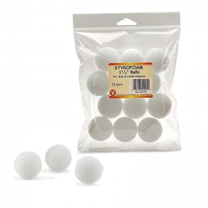 STYROFOAM 1 1/2IN BALLS 12 PACK