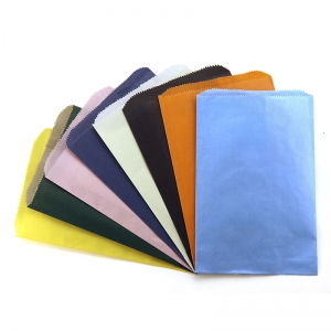 COLORFUL PAPER BAGS 6X9 ASSTD COLOR  PINCH BOTTOM