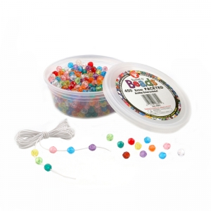 Bucket O� Beads, Faceted, 8 mm, 450/pkg