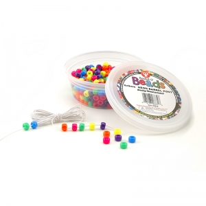Bucket O� Beads, Neon Barrel, 6 x 9 mm, 375/pkg