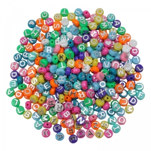 ABC Beads, Assorted Colors, Pack of 300