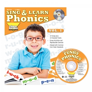 Sing & Learn Phonics Book & Audio CD, Vol. 1