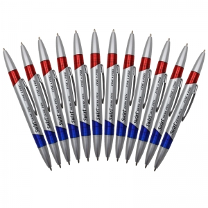 SWIRL DESK PENS RED/BLUE 12/PK