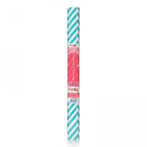 CONTACT ADHESIVE ROLL AQUA CHEVRON  18IN X 20FT