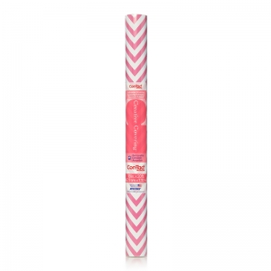 CONTACT ADHESIVE ROLL PINK CHEVRON  18IN X 20FT
