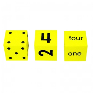SPOT WORD NUMBER DICE SET OF 3