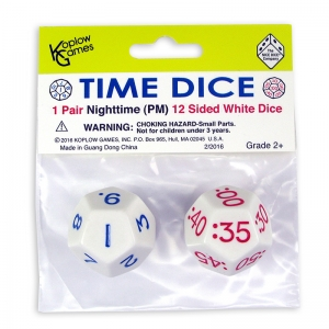 TIME DICE PAIR OF WHITE PM
