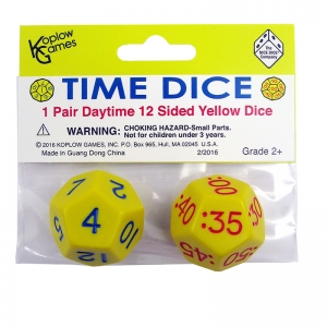 TIME DICE PAIR OF YELLOW AM