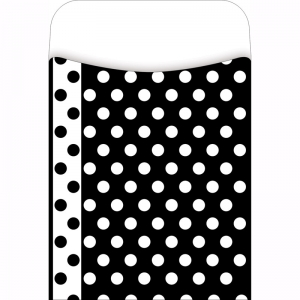 LIBRARY POCKETS BLACK & WHITE DOTS  PICK A POCKET