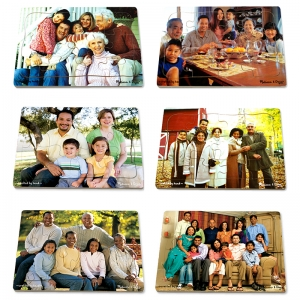 REALISTIC MULTIGENERATIONAL  MULTICULTURAL FAMILY PUZZLE SET