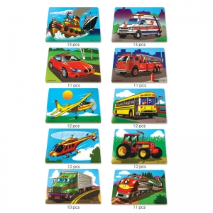 PUZZLE SET FAVORITE VEHICLES