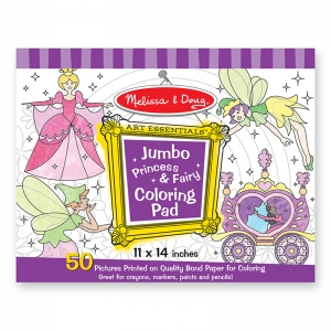 JUMBO COLORING PAD PRINCESS & FAIRY