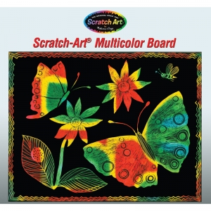 SCRATCH-ART BOARD 30 SHT MULTI  COLOR SOFT-SCRATCH BOARD