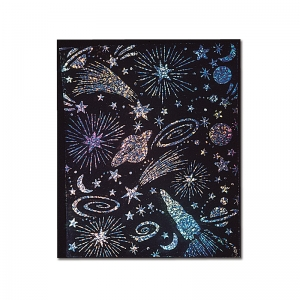 SCRATCH & SPARKLE 30 SHT SOFT  SCRATCH GLITTER BOARD