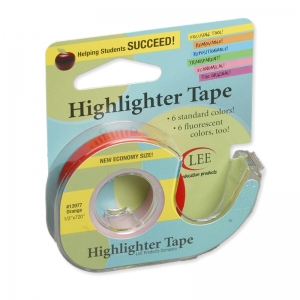 REMOVABLE HIGHLIGHTER TAPE ORANGE