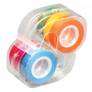 REMOVABLE HIGHLIGHTER TAPE 6 ROLLS  FLUORESCENT COLORS .5 X 720IN