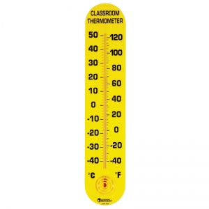 CLASSROOM THERMOMETER 15H X 3W  FAHRENHEIT/CELSIUS