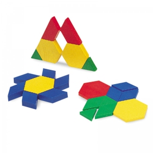 PATTERN BLOCKS MINI-SET 100/PK  5CM PLASTIC