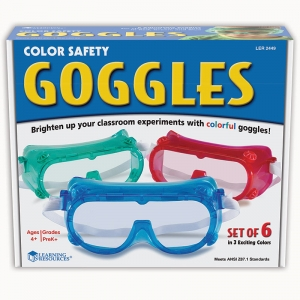RAINBOW SAFETY GOGGLES SET OF 6