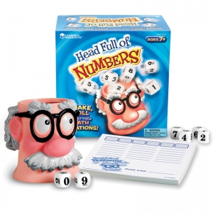 HEAD FULL OF NUMBERS MATH GAME