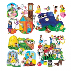 Little Folks Visuals Nursery Rhymes PreCut Flannel Board Set
