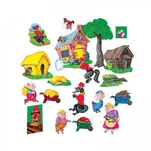 Little Folks Visuals The Three Pigs Flannelboard Set