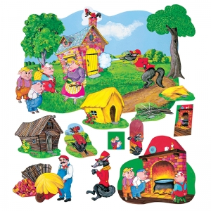 The Three Pigs Deluxe Flannelboard Set