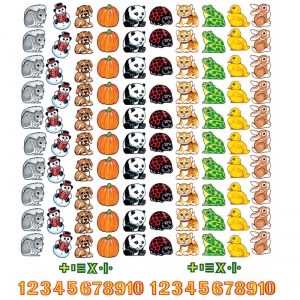 Beginners Counting Flannelboard Set, 132 pcs