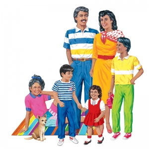 Hispanic Family Flannelboard Set, Precut