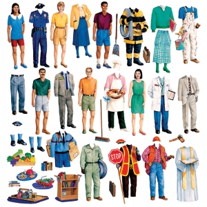 Little Folks Visuals Community Helpers Flannelboard Set